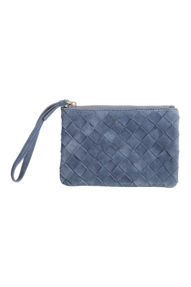 Clutch in pelle scamosciata - Blu-grigio - DONNA | H&M IT 1